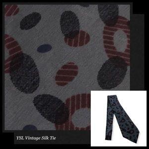 YVES SAINT LAURENT Vintage Elliptical Silk Tie